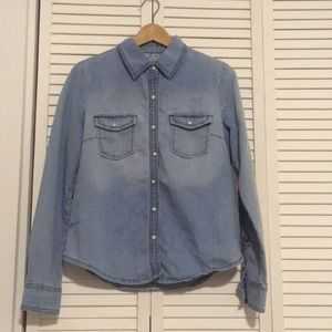 Forever 21 Jean Button Down